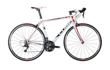 Cube Peloton white red print 3-fach